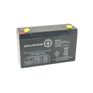 Akumulator żelowy POWERBAT CB 12-6 6V 12Ah