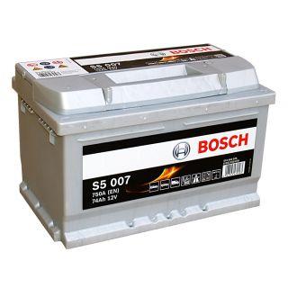 Akumulator Bosch 74Ah 750A EN S5007 PRAWY PLUS