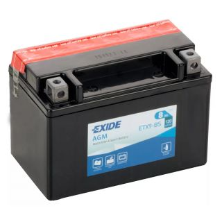 Akumulator motocyklowy EXIDE ETX9-BS/ YTX9-BS  12V 8Ah 120A EN L+