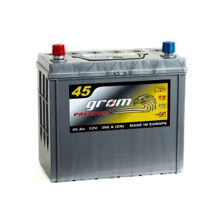 Akumulator GROM Premium 45Ah 390A Japan LEWY PLUS
