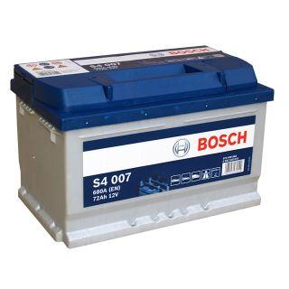 Akumulator Bosch 72Ah 680A EN S4007 PRAWY PLUS