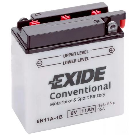 Akumulator motocyklowy EXIDE 6N11A-1B 6V 11Ah 95A EN P+