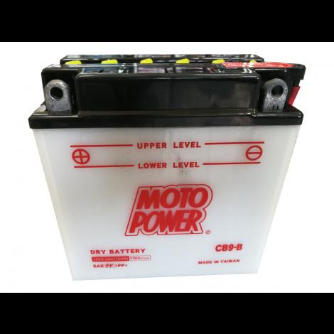 Akumulator motocyklowy MOTOPOWER CB9-B / YB9-B 12V 8Ah 130A L+