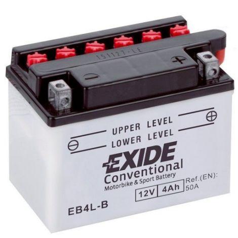 Akumulator motocyklowy EXIDE EB4L-B / YB4L-B 12V 4A 50EN P+