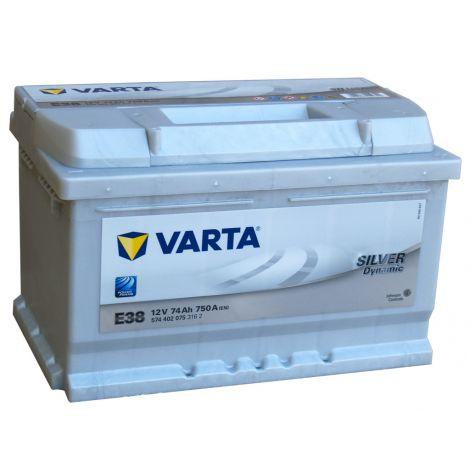 Akumulator VARTA Silver Dynamic E38 74Ah 750A EN P+